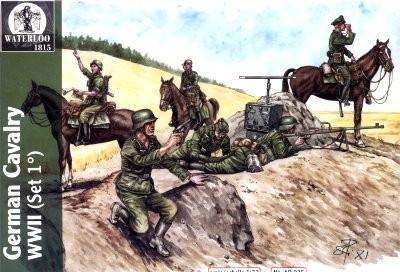 Hat 1/72 Waterloo: WWII German Cavalry (6 Figs & 6 Horses)