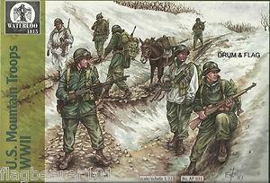 Image 0 of Hat 1/72 Waterloo: WWII US Mountain Troops (24 w/3 Donkeys)
