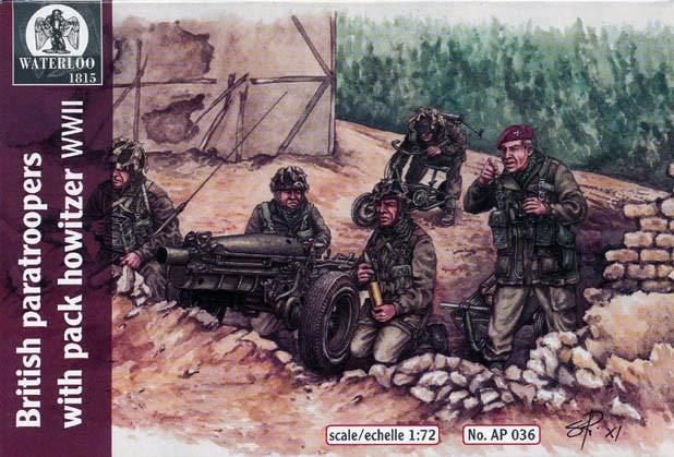 Hat 1/72 Waterloo: WWII British Paratroopers (12) & Howitzer (3)