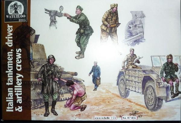 Hat 1/72 Waterloo: WWII Italian Tankmen, Driver & Artillery Crew (18)