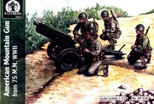 Hat 1/72 Waterloo: WWII American 75mm Mtn Gun (3 & 12 Figs)