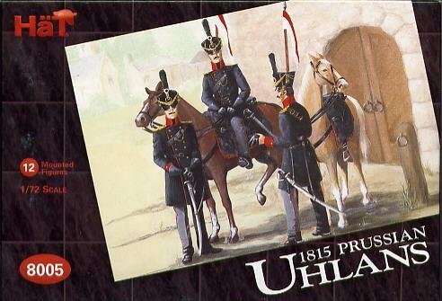 Hat 1/72 1815 Napoleonic Prussian Uhlans (12 Mtd)