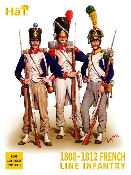 Hat 1/72 1808-1812 Napoleonic French Infantry (100) (Re-Issue)