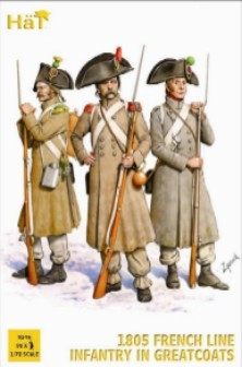 Hat 1/72 1805 French Line Infantry in Great Coats (96)