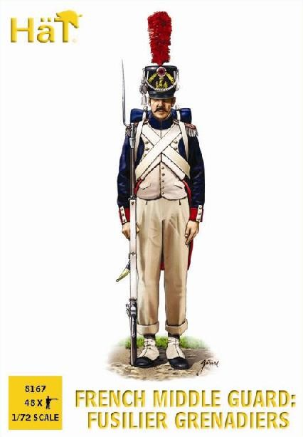 Hat 1/72 French Middle Guard Fusilier Grenadiers (48) (Re-Issue)