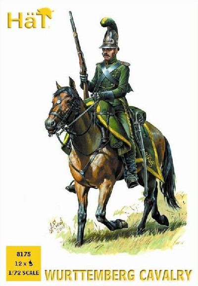 Hat 1/72 Napoleonic Wurttemberg Cavalry (12 Mtd) (Re-Issue)