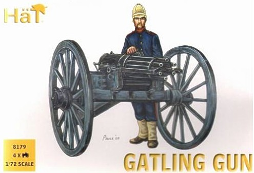 Hat 1/72 Colonial Wars Gatling Gun (4 w/24 Figs)