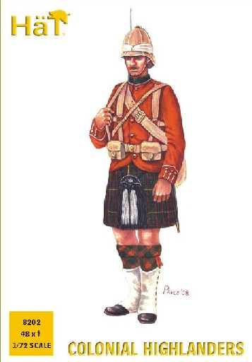 Hat 1/72 Colonial Wars Highlanders (48) (Re-Issue)