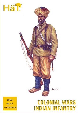 Hat 1/72 Colonial Wars Indian Infantry (48)