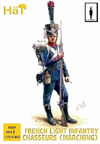 Hat 1/72 Napoleonic French Light Infantry Chasseurs Marching (40)