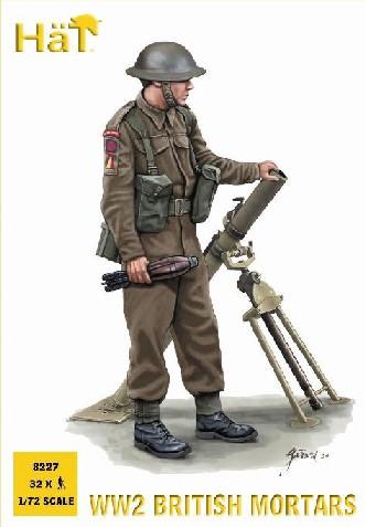 Hat 1/72 WWII British Mortar Team (32 & 4 Mortars)