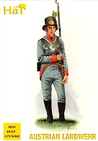 Hat 1/72 Napoleonic Austrian Landwehr (60) (D)