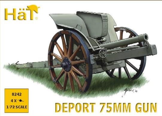 Hat 1/72 WWI Deport 75mm Gun (4)