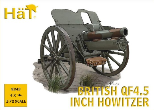 Image 0 of Hat 1/72 WWI British QF4.5 Inch Howitzer (4)