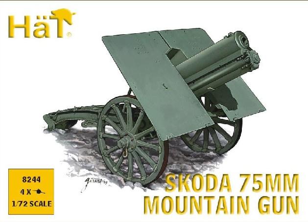 Hat 1/72 WWI Skoda 75mm Mountain Gun (4)