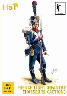Hat 1/72 Napoleonic French Light Infantry Chasseurs Action (32)
