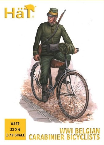 Hat 1/72 WWI Belgian Carabinier Bicyclists (12)