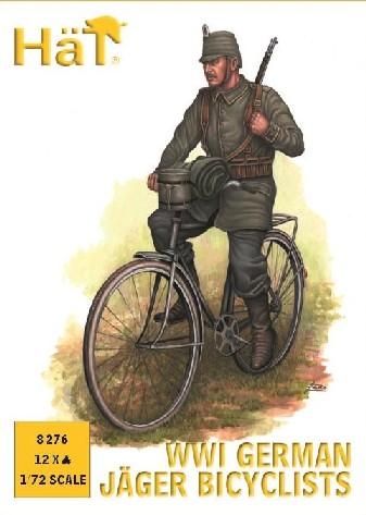 Hat 1/72 WWI German Jaeger Bicyclists (12)