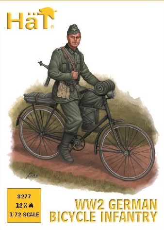 Hat 1/72 WWII German Bicycle Infantry (12)
