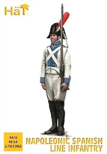 Hat 1/72 Napoleonic Spanish Line Infantry (48)