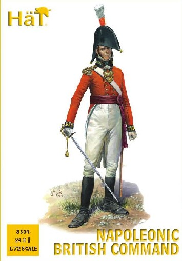 Hat 1/72 Napoleonic British Command (24) (Re-Issue)