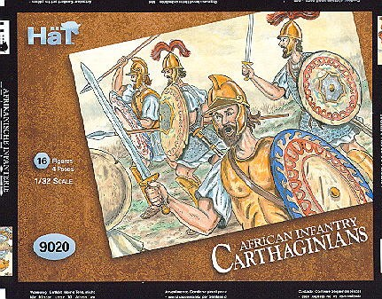 Hat 1/32 Carthaginians Heavy African Infantry (16) (Re-Issue)