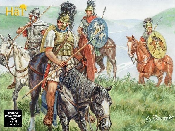 Hat 1/32 Roman Cavalry (4 Mtd)