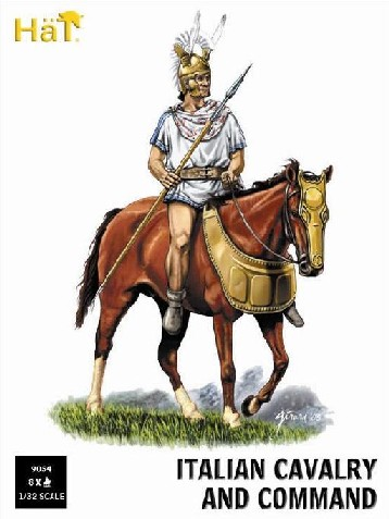 Hat 1/32 Italian Cavalry & Command (8 Mtd)