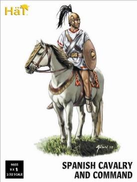 Hat 1/32 Punic War Spanish Cavalry & Command (8 Mtd)