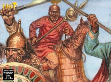 Hat 1/32 Punic War Carthaginian Cavalry/Command (8 Mtd)