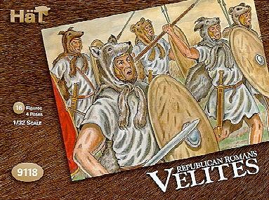 Hat 1/32 Republican Romans Velites (16) (Re-Issue)