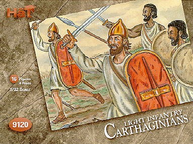 Hat 1/32 Carthaginian Light African Infantry (16) (Re-Issue)