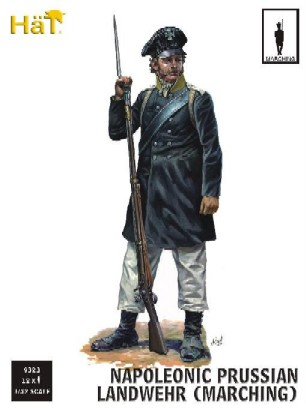 Image 0 of Hat 1/32 Napolenic Prussian Landwehr Marching (18)