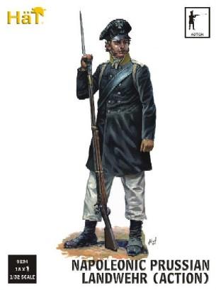 Image 0 of Hat 1/32 Napoleonic Prussian Landwehr Action (18) (D)