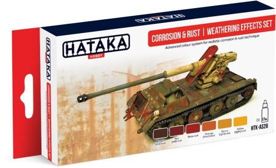 Hataka Hobby Corrosion & Rust Weathering Effects Paint Set (6 Colors) 17ml Bottl