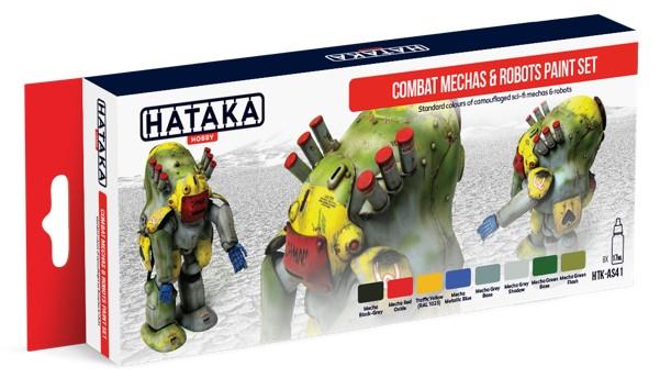 Hataka Hobby Combat Mechas & Robots Sci-Fi Camouflage Paint Set (8 Colors) 17ml
