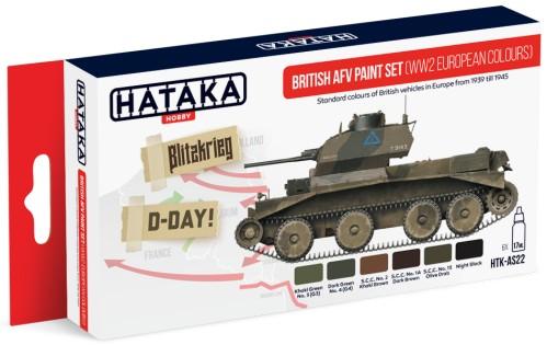 Hataka Hobby British AFV WWII Europe 1939-45 Paint Set (6 Colors) 17ml Bottles