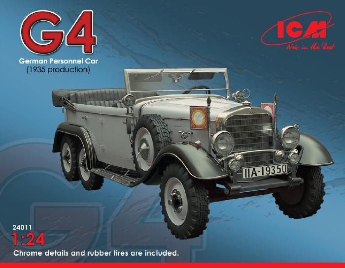 ICM Models 1/24 G4 1935 Production German Personnel Car