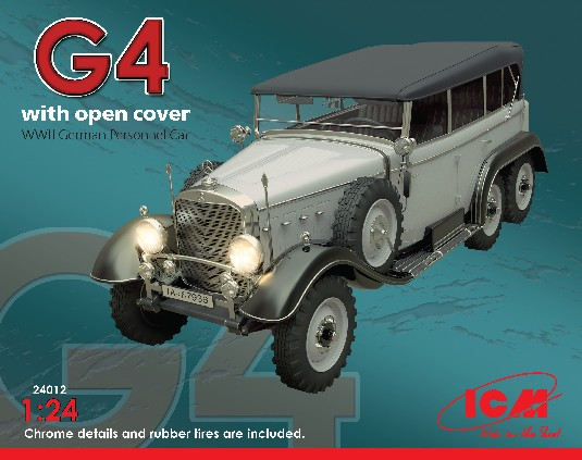 ICM Models 1/24 WWII G4 German Personnel Car w/Open Cover