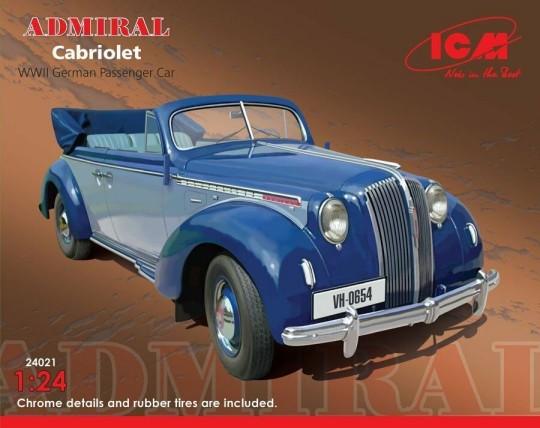 ICM Models 1/24 WWII Admiral Convertible German Passenger Car