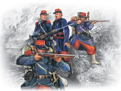 ICM Models 1/35 French Line Infantry French-German War 1870-1871 (4)