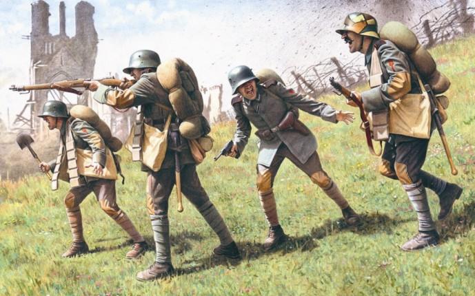 ICM Models 1/35 German Assault Troops 1917-18 (4)