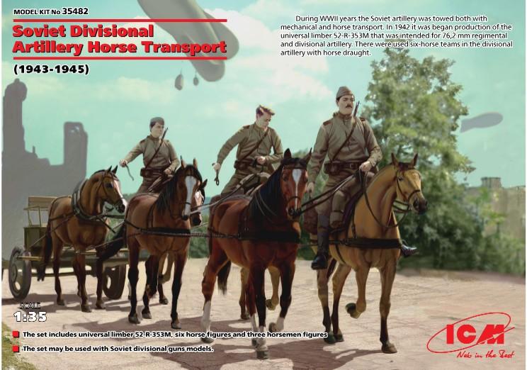 ICM Models 1/35 Soviet Divisional Artillery Horse Transport