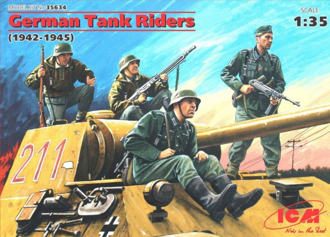 ICM Models 1/35 German Tank Riders 1942-45 (4)