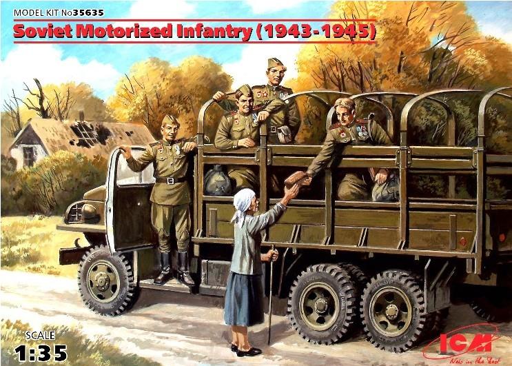 ICM Models 1/35 Soviet Motorized Infantry 1943-45 (4 & 1 Woman)