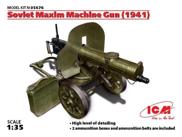 ICM Models 1/35 Soviet Maxim Machine Gun 1941
