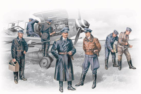 ICM Models 1/48 Luftwaffe Pilots & Ground Personnel 1939-45 (7)