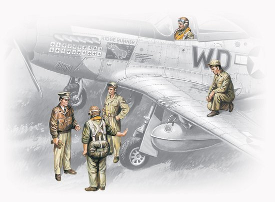 Image 0 of ICM Models 1/48 USAAF Pilots & Ground Personnel 1941-45 (5)