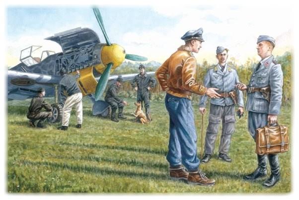 ICM Models 1/48 German Luftwaffe Ground Personnel 1939-45 (7)