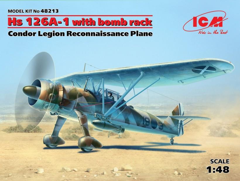 ICM Models 1/48 Hs126A1 Condor Legion Recon Aircraft w/Bomb Rack